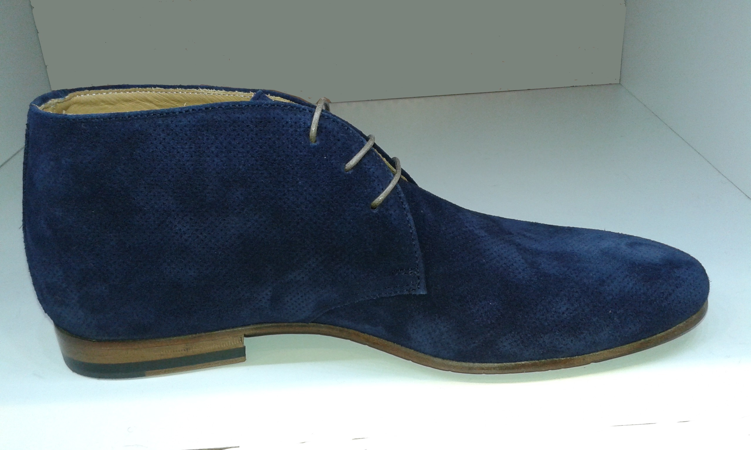 13039c7ffa3ef9 Chaussures italienne nubuck perforé bleu marine