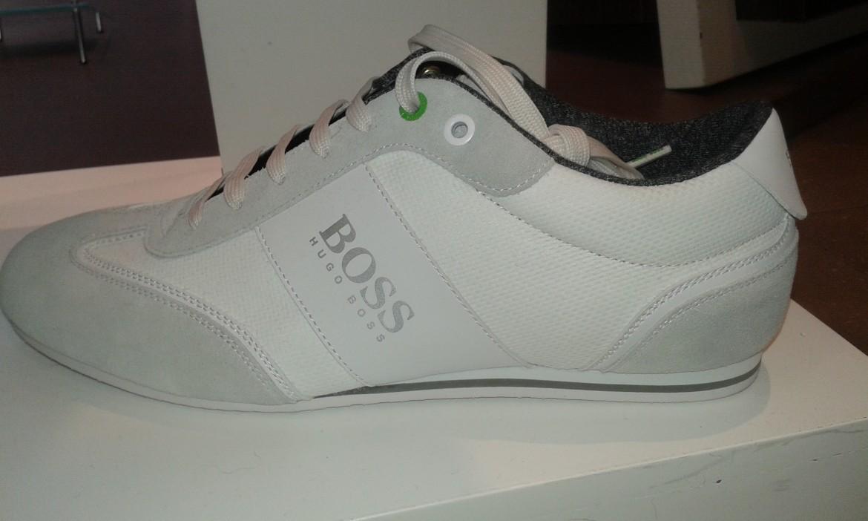 5a1b3f52dce Baskets Boss Green blanche
